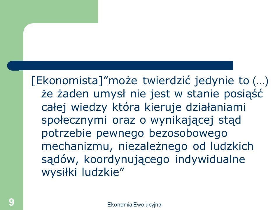 [Ekonomista] może twierdzić jedynie to (